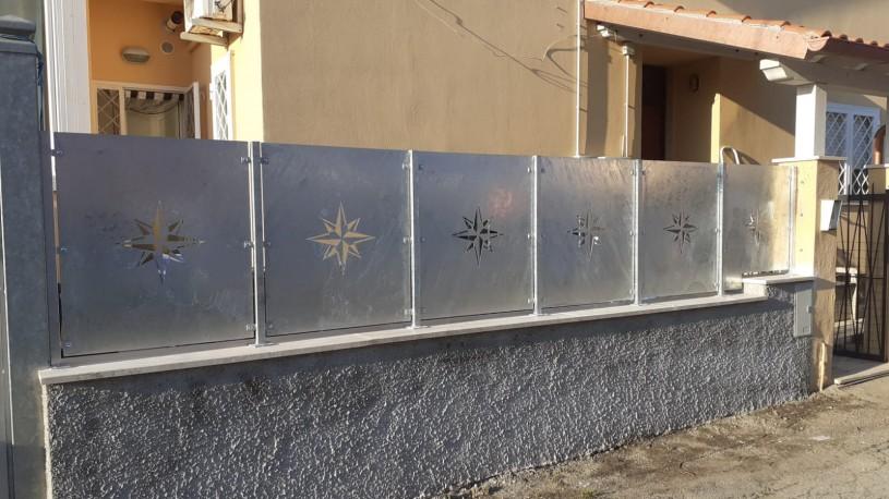 recinzioni lavorate a laser rosa dei venti