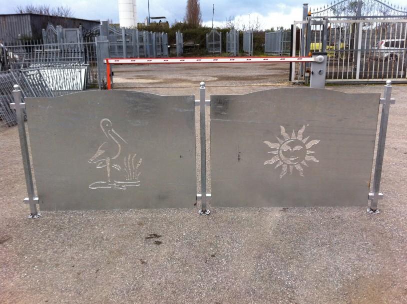 recinzioni modulari sole e cigno